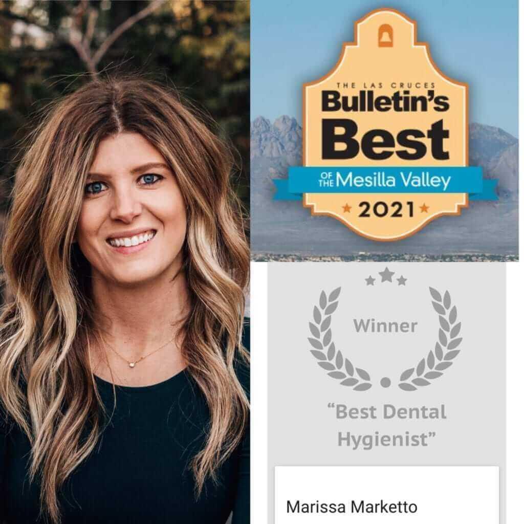 """Marissa Marketto voted """"Best Dental Hygienist"""""""